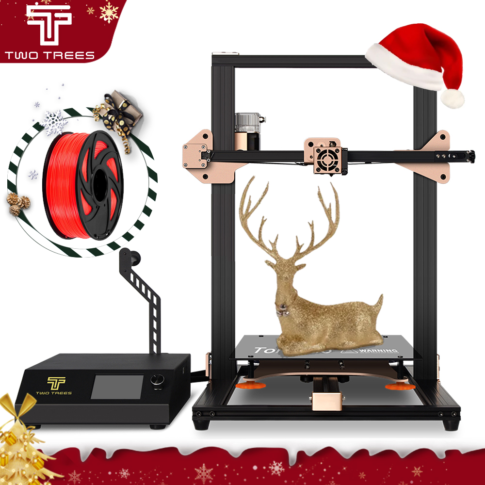 3D-принтер Twotrees Tornado, лазерный уровень, сенсорный экструдер BMG, стеклянный корпус, prusa i3 mega mean well, источник питания