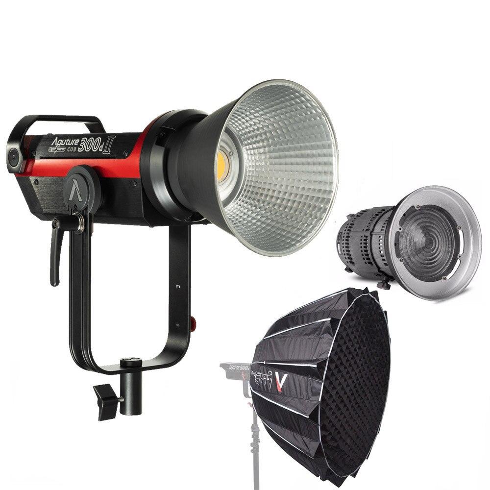 Aputure LS C300d 2 Mark II 300d II LED caméra vidéo lumière COB lumière + Fresnel mount 2x + lumière dôme II Studio lumière LED