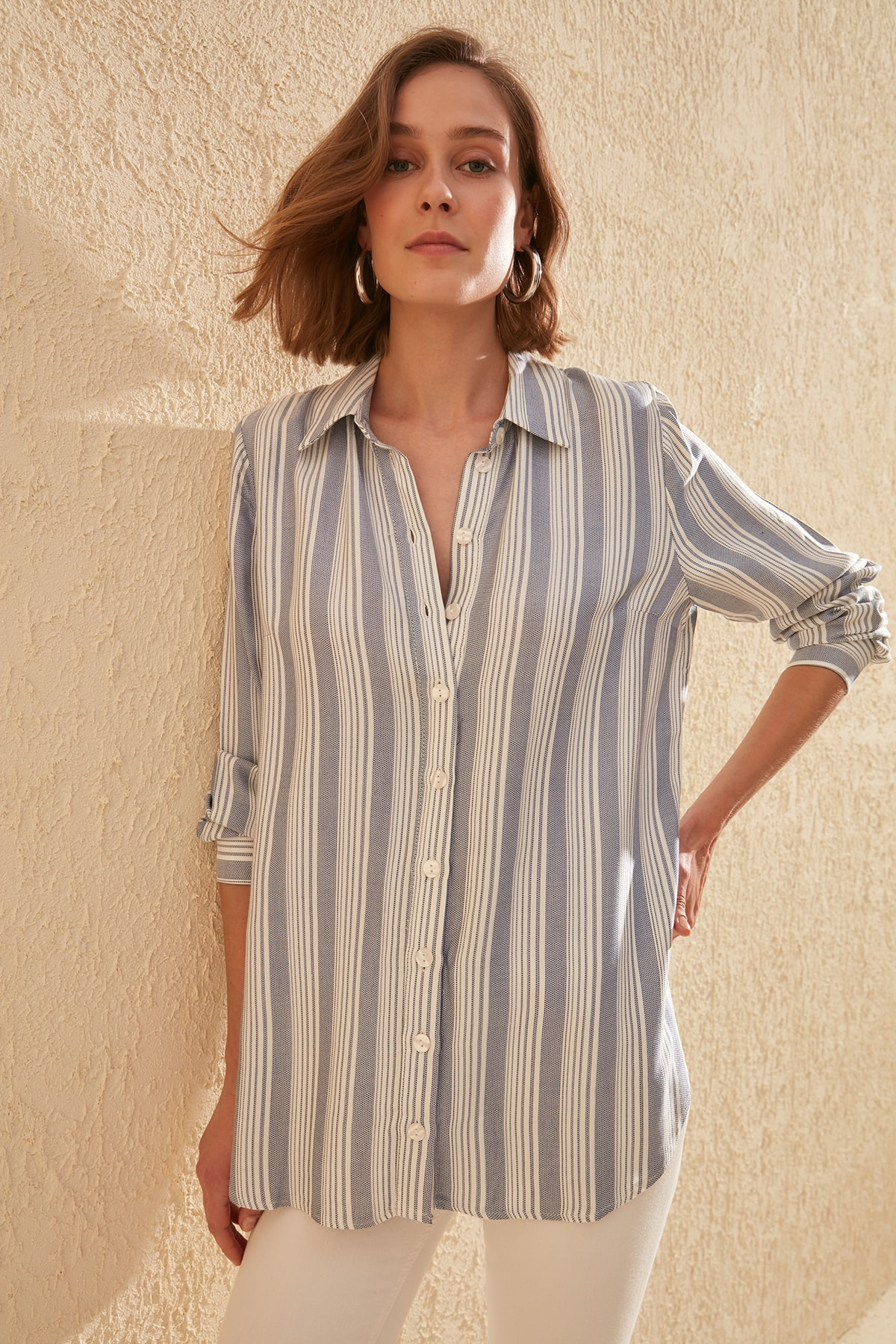 Trendyol Striped Shirt TWOSS20GO0069