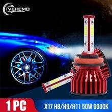 цена на DOB Auto Lamp Headlight Mile Car Light Wind 50W Turbo Super 6000K Bright 9006/HB4 Fog Bulbs For 881 Led H7 H4 H9 H1 Automotive