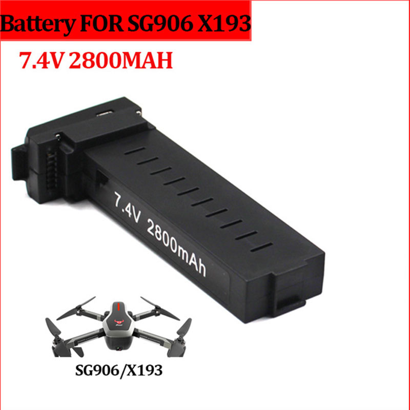 SG906 RC Drone Battery 7 4V 2800mAh replacement rechargeable Li-Po battery extra Lithium Battery spare parts accessories