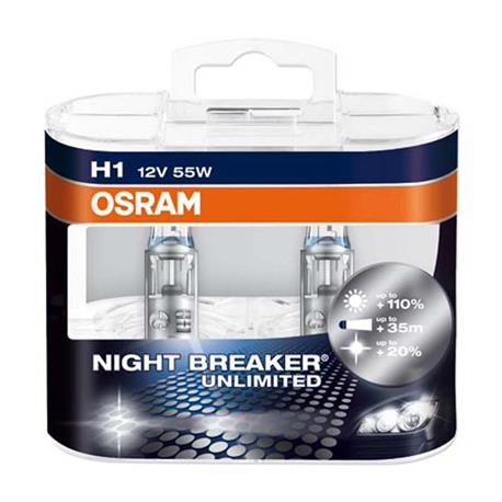 MT-ONBU1-DUO-OSRAM NIGHT BREAKER®UNLIMITED H1 Duo Box