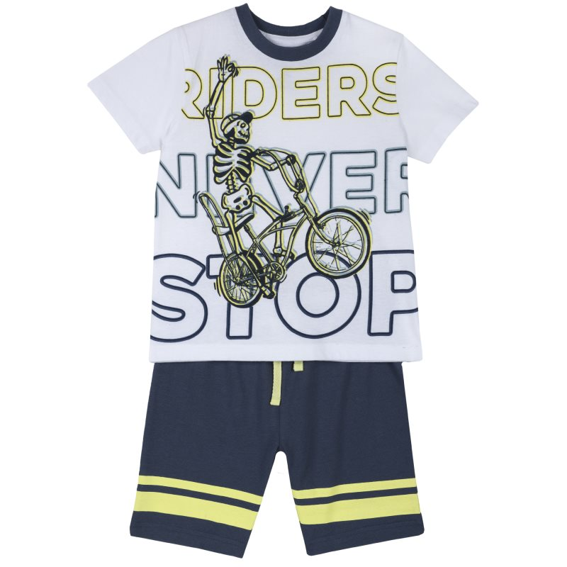 Set T shirt and shorts Chicco, size 098, print bike (multicolor)