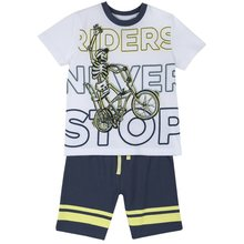T shirt and shorts set Chicco size 098 print bike multicolor