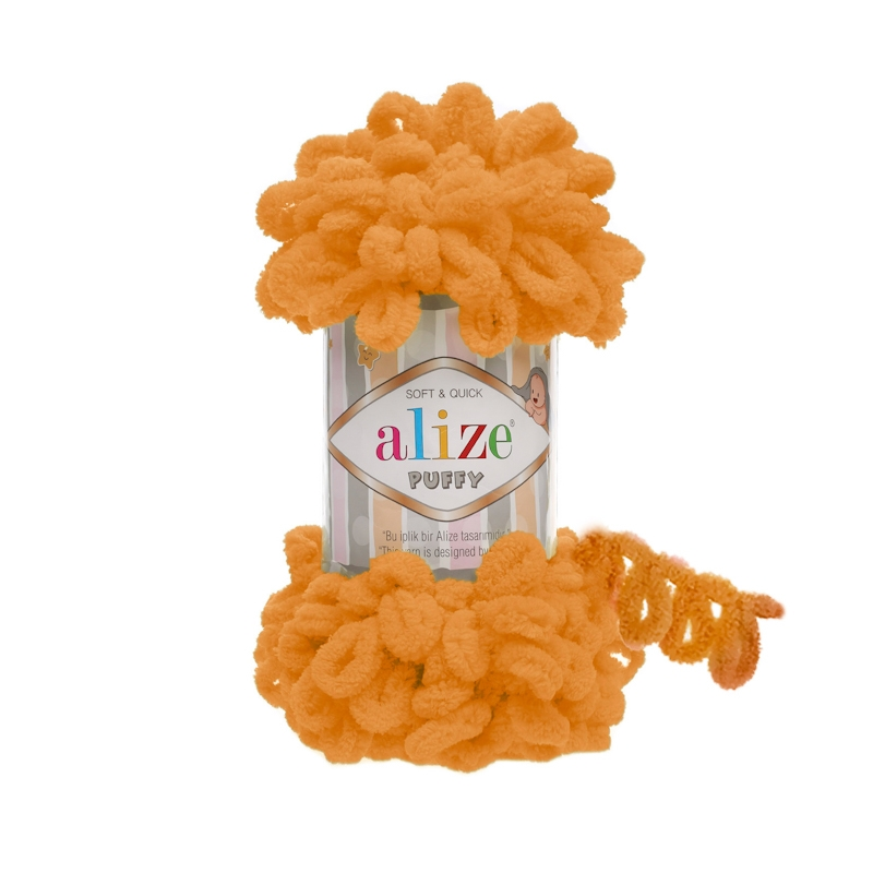 5 PCS Alize Puffy Yarn, Blanket Yarn, Baby Blanket  Finger Yarn Soft Yarn Kids' Crafts Finger Knitting Baby Shower Gift 5X100GR