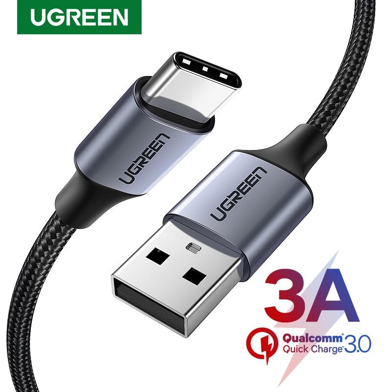UGREEN Micro USB Type C кабель USB Type-C с функцией быстрой зарядный кабель USB Type-C 3A кабель для передачи данных для Samsung S7 S6 Примечание Мобильный телефон ми...