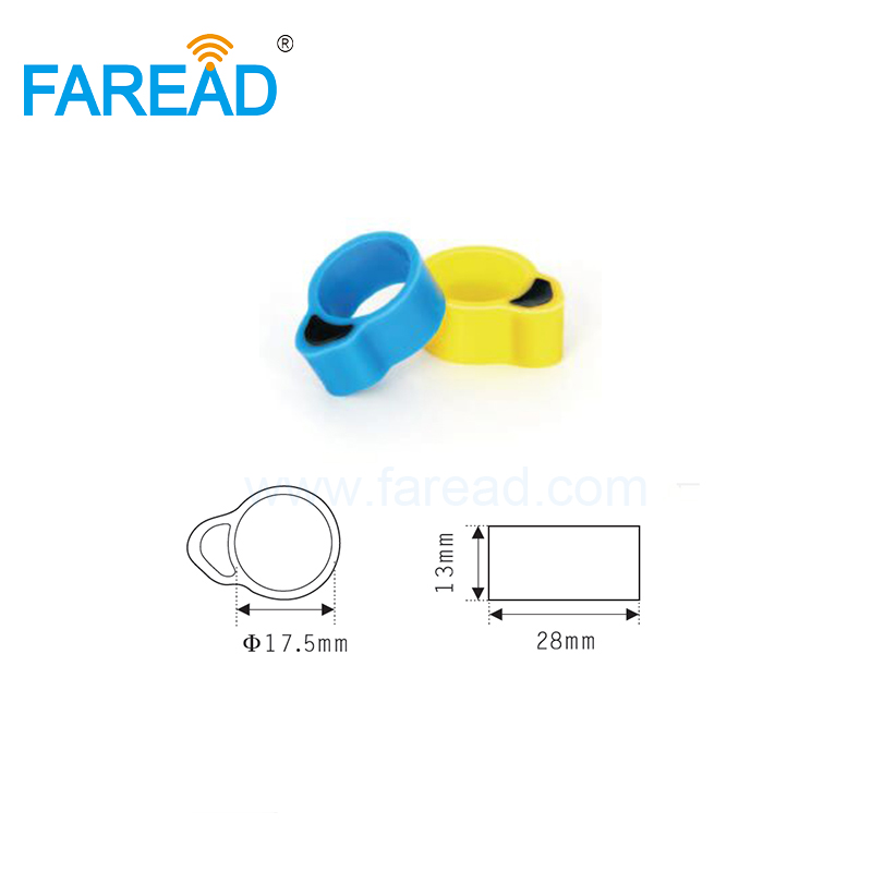 Free Shipping X100pcs EM4305 134.2KHz LF ISO FDX-B RFID Chip Tag Animal Chicken Duck Foot Ring For Identify
