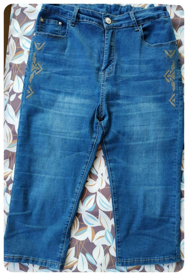 Jeans For Women High Waist  Plus Size   Summer  Calf Length   Thin  Softener Skinny Female  Pencil Denim  Pants  6Xl photo review