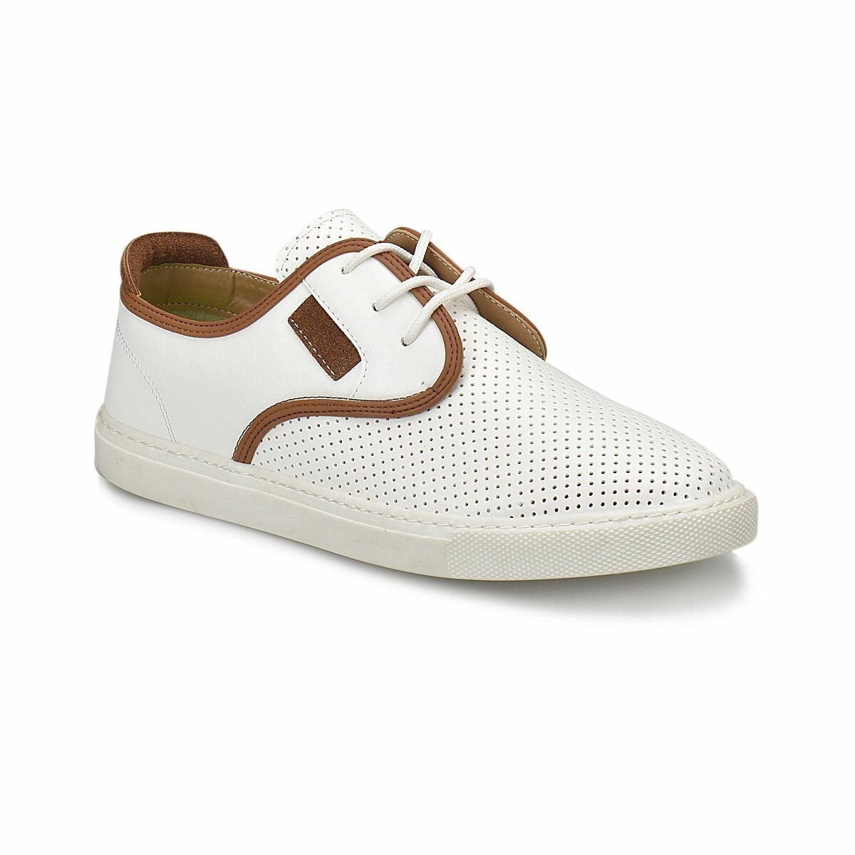 FLO PNM312.G White Male Child Sneaker Shoes Panama Club