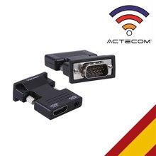 ACTECOM ADAPTADOR HDMI A VGA PARA PC portátil DVD, APPLE TV PS3 SKY HD XBOX 360 IMAGEN de TV