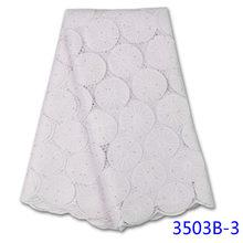 Белая африканская Сухая ткань 2020 Высококачественная вышивка
