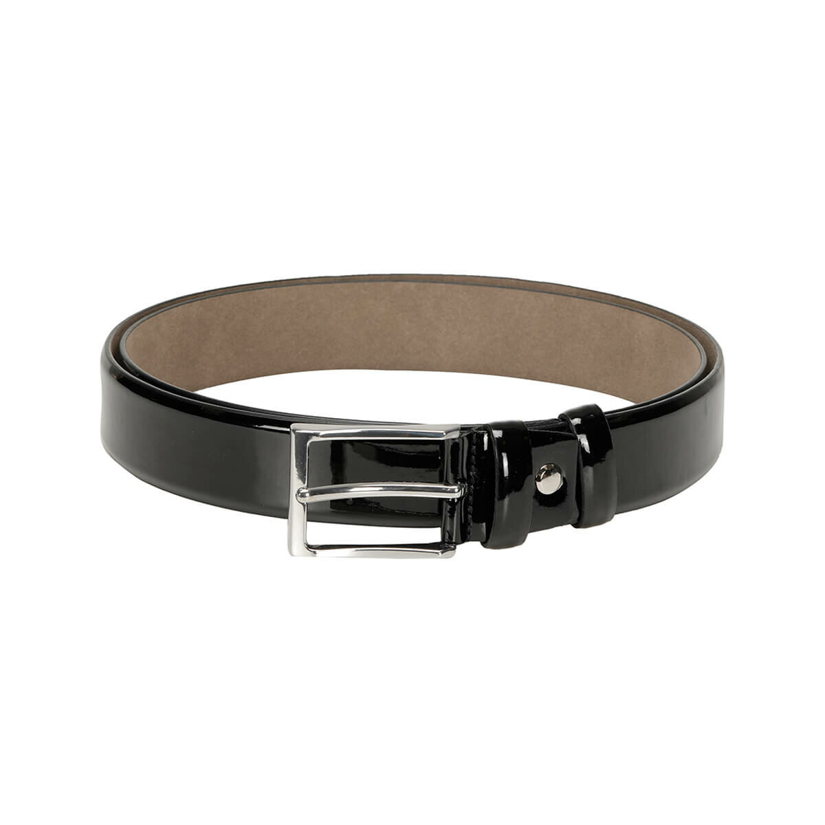 FLO MKNYL3401 Black Male Belt Garamond