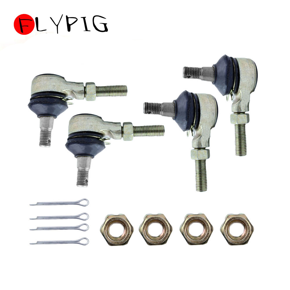 Motorcycle Accessories Right And Left Tie Rod End Kit Steel Ball Joints For Yamaha Raptor 660 YFM660 YFM660R ATV 2001-2005 2Sets