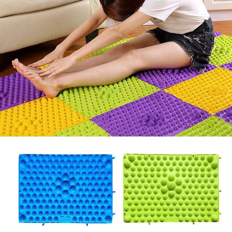 Партия коврик игровой массаж ног ковриком с шипами рефлексология ходьбы подошве массажный коврик Коврик для ванной коврик для йоги спортивный коврик