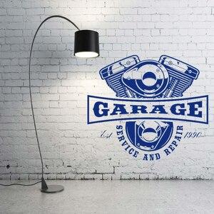 Новый горячий автомобиль обслуживание и ремонт стикер стены наклейка автосервис Авто гараж украшение стены A00368