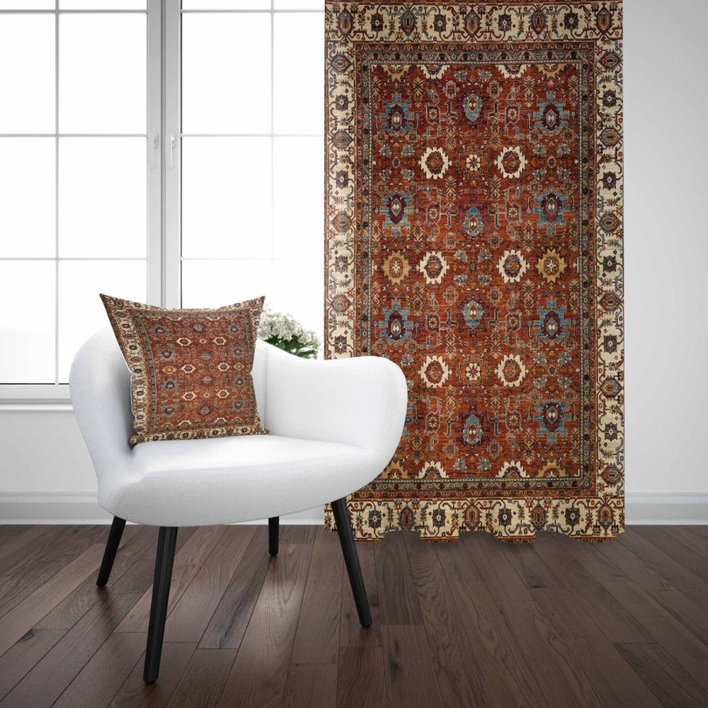 Else Brown Yellow Antique Ottoman Turkish Vintage 3D Print Living Room Bedroom Window Panel Curtain Combine Gift Pillow Case Curtains     - title=