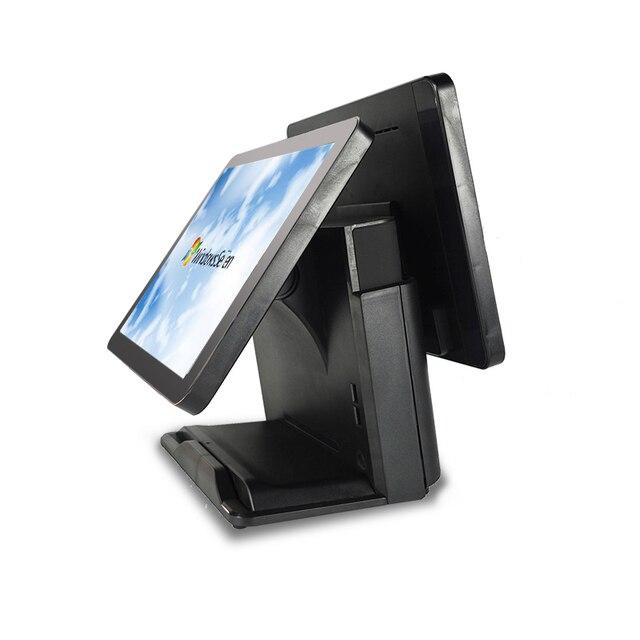 Caisse enregistreuse, système de point de vente pour restaurants, carte mère J1900, double écran capacitif, 15 + 15 pouces 1