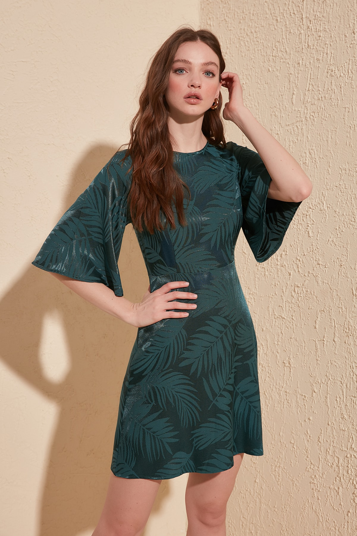 Trendyol Leaf Print Dress TWOSS20EL1517