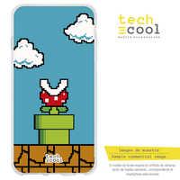 FunnyTech®Silicone Case for Samsung Galaxy A40 L Design Nintendo Super Mario 8-Bit vers.4