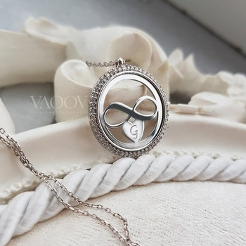 VAOOV Personalized 925 Sterling Silver Infinity Necklace