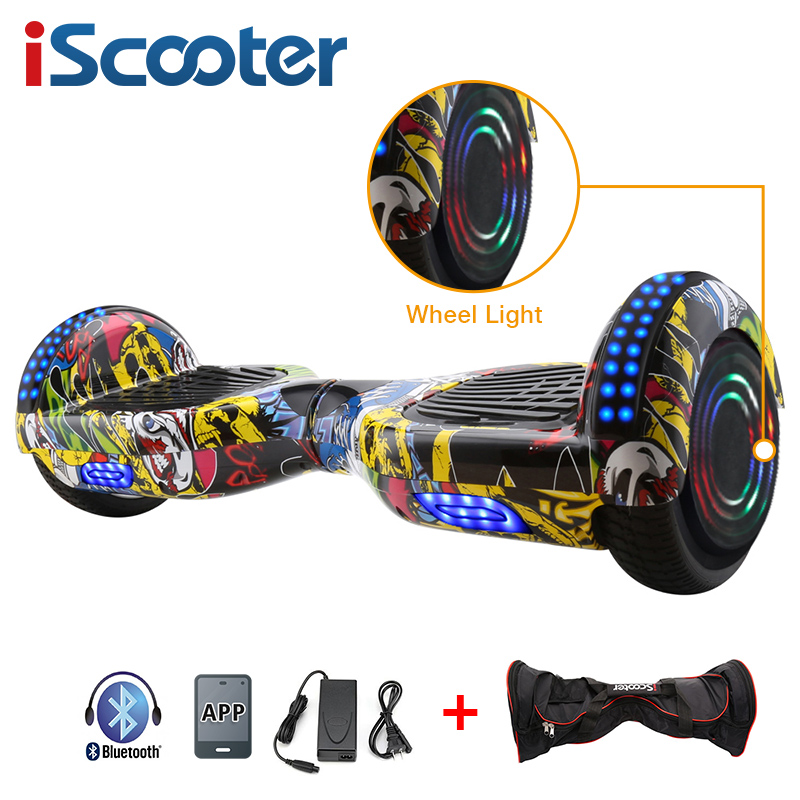 6.5 inch Hoverboard with Illuminated Wheels and Bluetooth 5