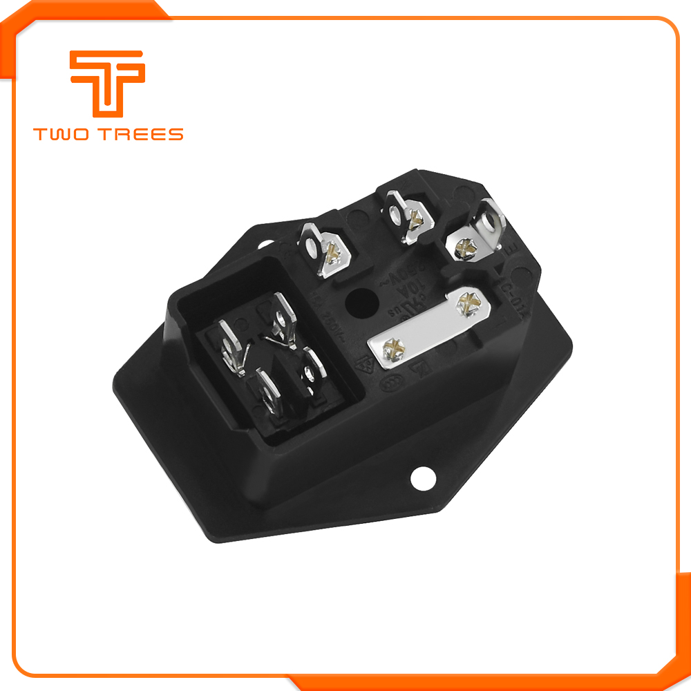 220V/110V 15A Power Supply Switch Male Socket with Fuse as 3D Printer Accessories 5