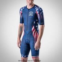 Wattie ink triathlon suit American men professional team short sleeved Jersey quick drying sportswear cycling clothing Skinsuit