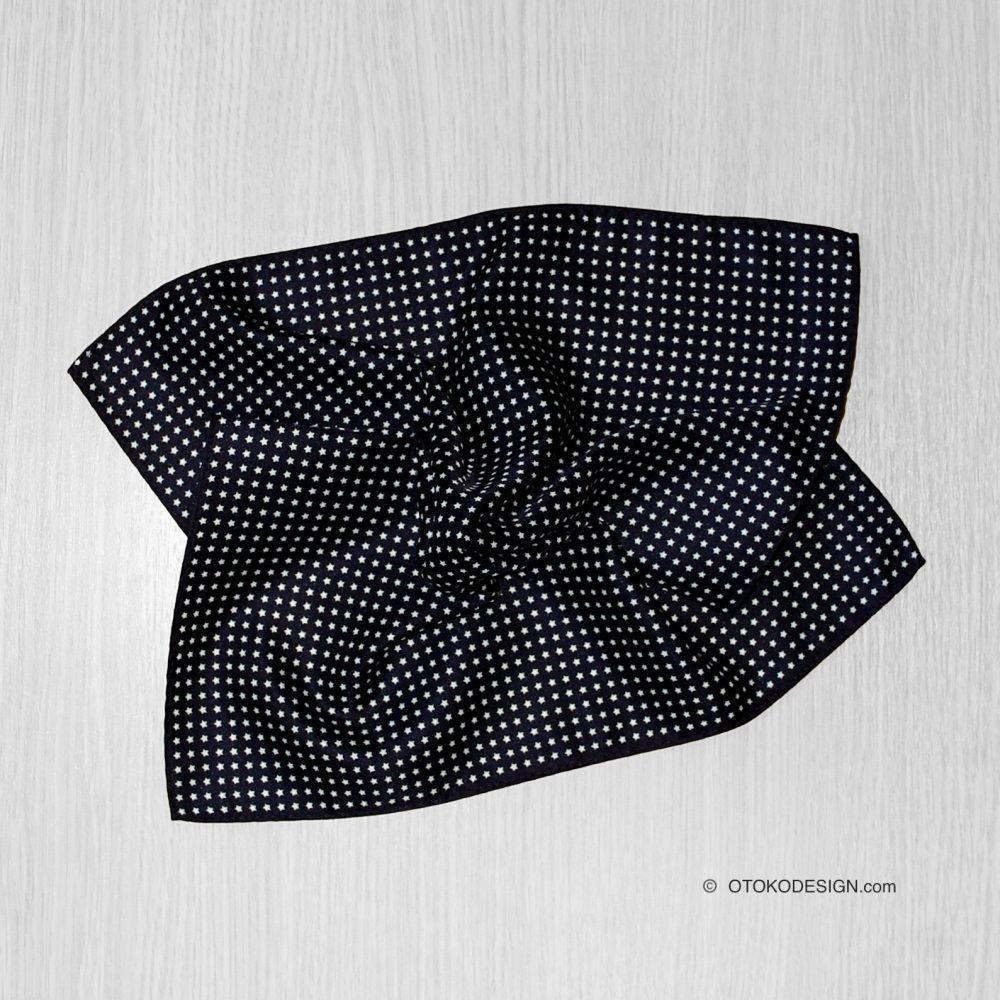 Pocket Square In Jacket Pocket Black Star (52372)