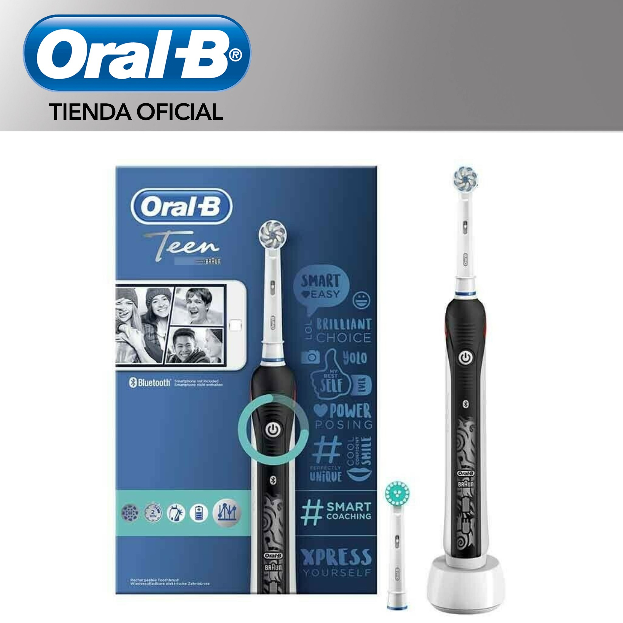 Oral B Smart Series Teen Sensi Ultrathin Toothbrush electrics-3 modes cleaners, timer 2 min, pressure sensor image