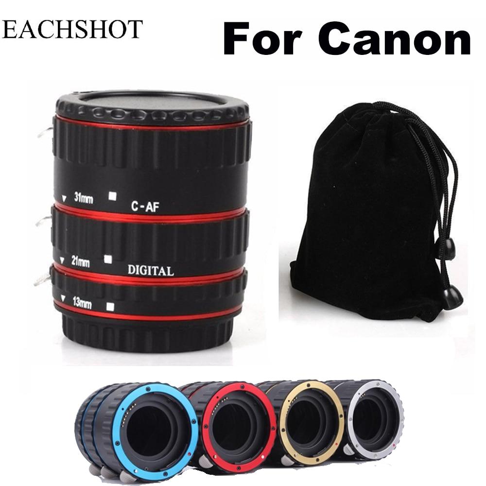 Lens Adapter Mount Auto Focus AF Macro Extension Tube Ring For Canon EF-S Lens 1000D 77D 60D 70D 550D 600D 500D 800D 6D 7D Lens
