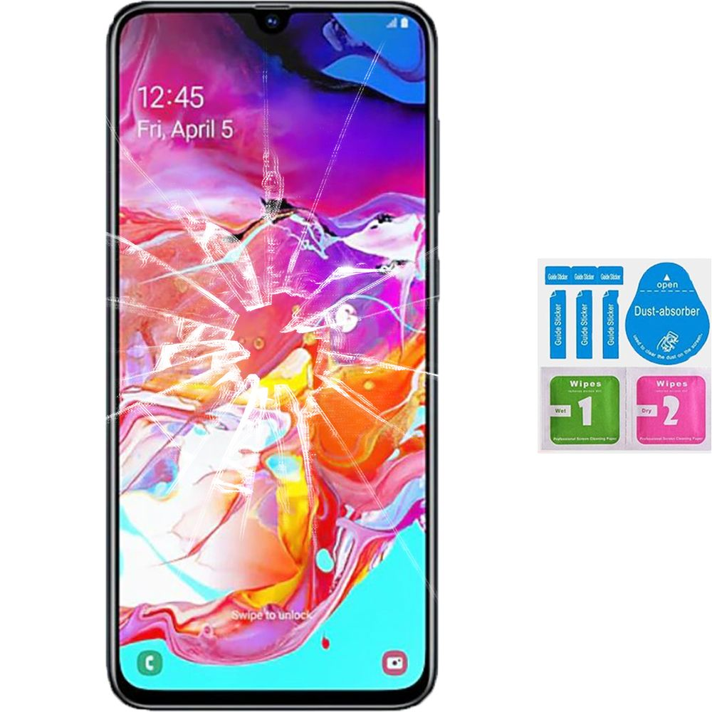 Screen Protector Tempered Glass Vidrio Para For SAMSUNG GALAXY A70 2019 (Generico, Not Full