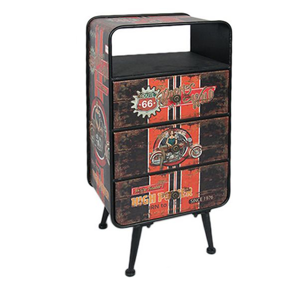 Side Table Route 66 116893 Retro (81 X 40 X 30 Cm)