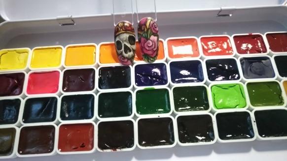 Water Color Plantas 34-cor Sub-pacote