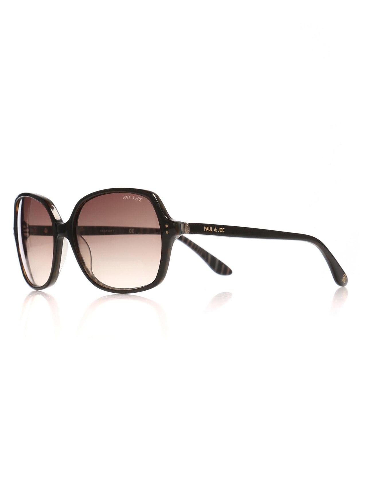 Women's sunglasses pj lady 26 e153 bone Brown organic square square 56-16-135 paul / joe