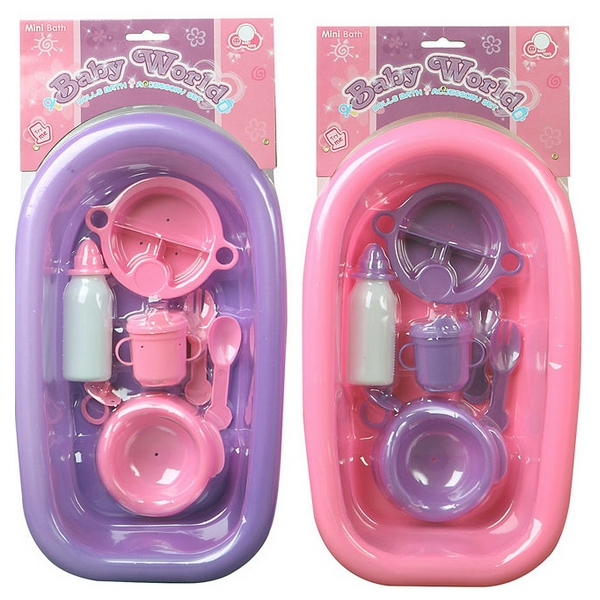 Doll's Bath Set With Accessories 115030 (8 Pcs)