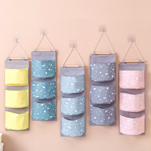 Hanging Organizer For Sundries Underwear Storage Bag High Quality Wall Pouch Toys Closet Organizer Printing Hanging Storage Bags