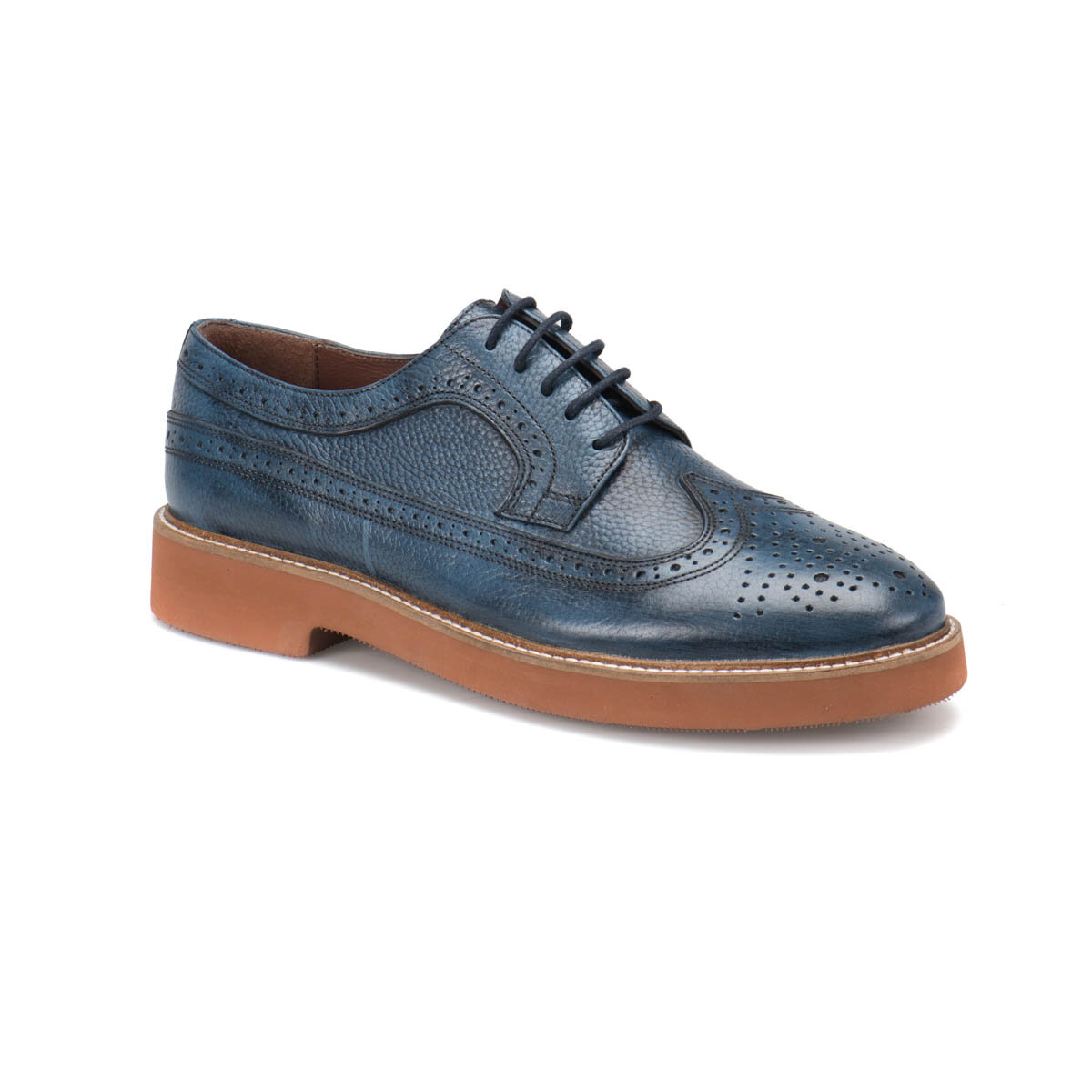 FLO 70105-1 M 1506 Navy Blue Men 'S Modern Shoes Cordovan