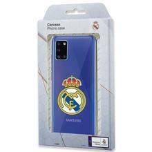 Cool® - Carcasa funda Samsung A315 Galaxy A31 Licencia Fútbol Real Madrid Transparente