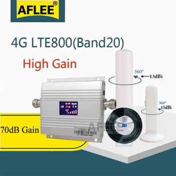 Europe 4G Cellular Amplifier Band20 LTE 800MHz 4g Network Mobile Signal Booster repeater gsm 4g Cell phone cellular antenna
