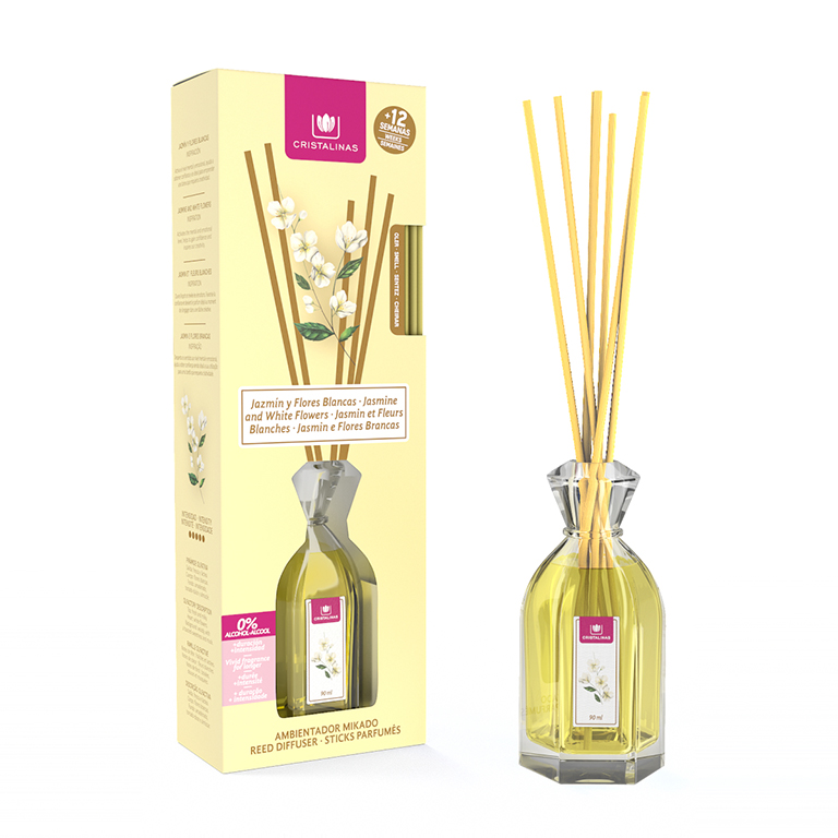 Airfreshener Mikado HOME De Crystal. + 8/+ 12/+ 16 Weeks Duration