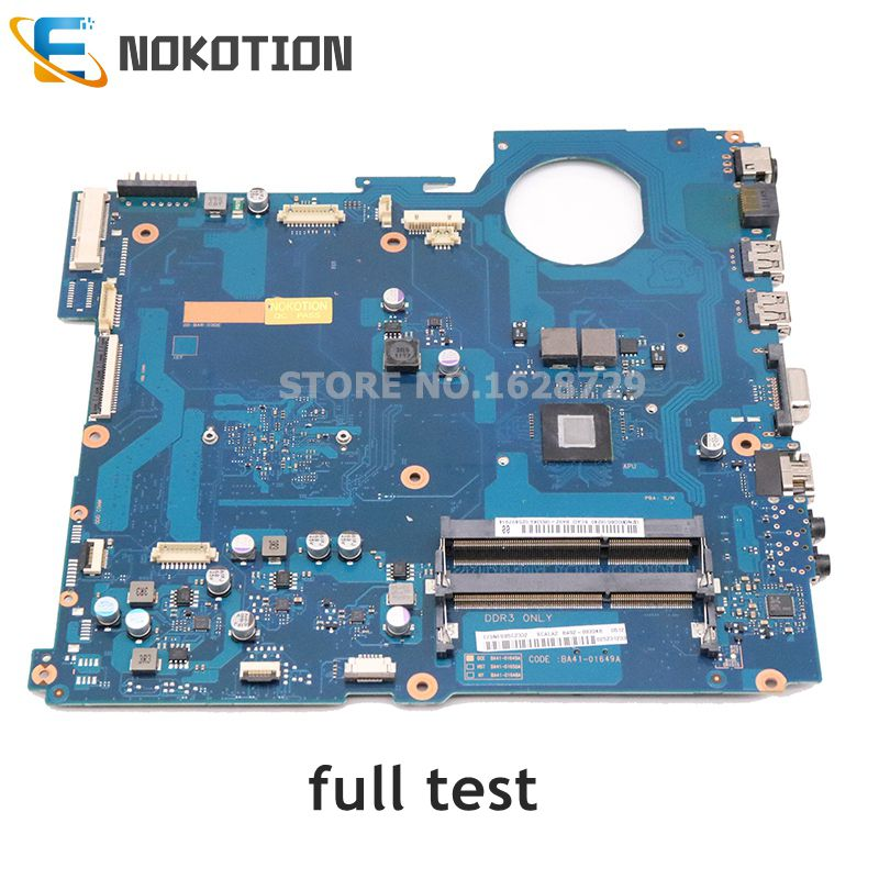 NOKOTION BA92-08334A BA92-08334B BA41-01649A For Samsung NP-RV515 RV515 Laptop Motherboard With Processor DDR3 Full Test
