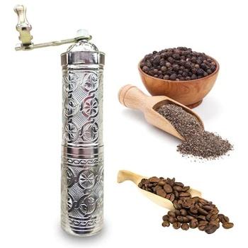Czarna kawa pieprz szlifierka ręczna 21cm-data Phantom-stop cynkowy długi rozmiar tanie i dobre opinie TR (pochodzenie)