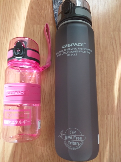 UZSPACE Sports Water Bottle Kids Tour Plastic kettle Portable LeakProof Children My Favorite Drink Bottle 350ml Tritan BPA Free-in Water Bottles from Home & Garden on AliExpress