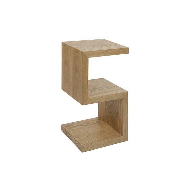 Side Table Mdf Ash Wood (32x32x60 Cm)