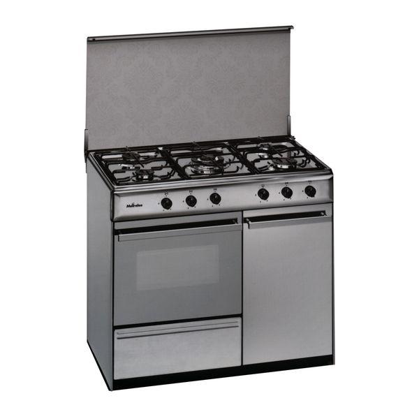 Butane Gas Cooker Meireles 90 cm 114 L Inox White (5 Stoves)|Cooktops| |  - title=