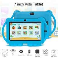 Tableta de 7 pulgadas HD con estuche de silicona para niños, tablet de regalo educativo para aprendizaje, Android, novedad de 2021