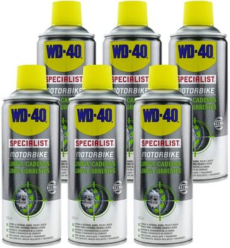 WD-40 Specialist Motorbike Pack 6 PCs-clean chains-Spray 400ml wd 40 bike pack 6 pcs total bicycle cleaner sprayer 500ml