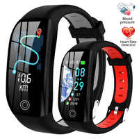 GPS Smart Bracelet Band IP68 Waterproof Cardio Bracelet Activity Tracker Heart Rate Pressure Measurement Health Wristband 5 In 1