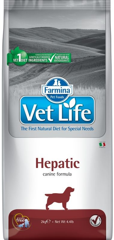 Vet Life Dog Hepatic Food For Dogs With Liver Disease, 2 Kg.