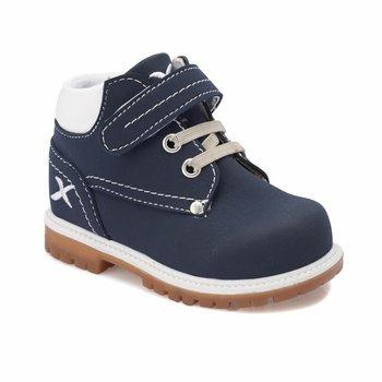 FLO MOIRA granatowe męskie buty dziecięce KINETIX tanie i dobre opinie ALLIGATOR Korka Chłopcy